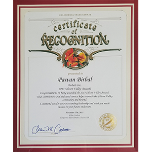 Certificate of Recognition image